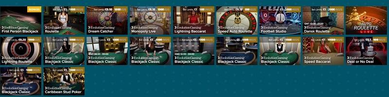 Spinaru Live Casino