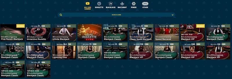 Vipspel Live Casino